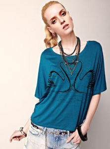 Women Fashion Clothes / Viscose T-Shirt / Clothing (000007) pictures & photos