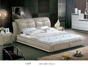 Modern Bed, Leather Bed, Bedroom Furniture, King Size Bed (L1187) pictures & photos