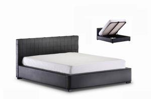 Modern Home Furniture PVC Pneumatic Black Storage Bed