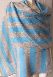 30% Cashmere 70% Wool Stripe Warp Shawl pictures & photos
