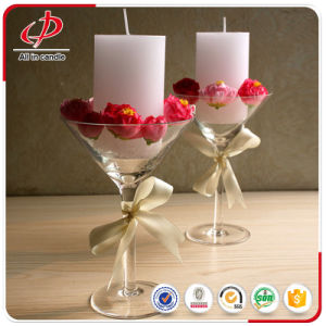 White Pillar Candles for Wedding Decorations pictures & photos