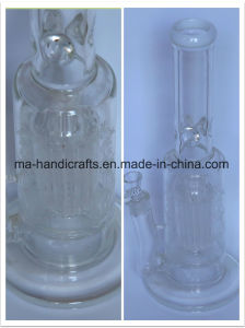 Sand-Blast Glass Water Pipe with Tree Perc pictures & photos
