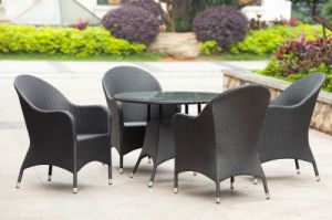 Outdoor Table Set Furniture / Garden Rattan Chair and Table (BZ-D094)
