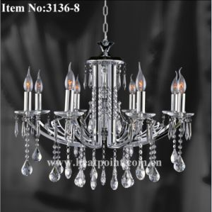 Modern Chandelier with 8 Bulbs in Chrome Color (HP3136-8)