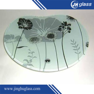 Colored 3-12mm Tempered Silk Screen Printing Glass pictures & photos