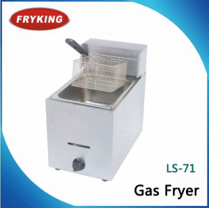Catering Equipments Countertop Gas Deep Fryer Commercial pictures & photos