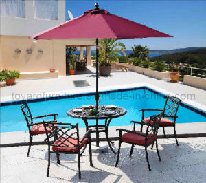 Aluminum Garden Furniture with 4 Chairs-Patio Set