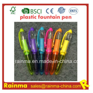 Mini Plastic Liquid Fountain Pen with Nice Mulit Color pictures & photos