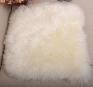 Genuine Merino Sheepskin Furry Sofa Throw Pillow pictures & photos