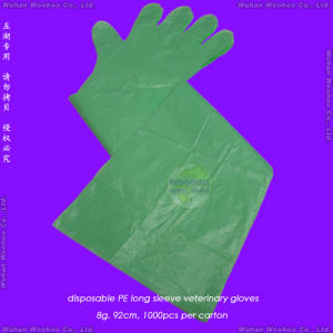 Disposable HDPE Veterinary Gloves pictures & photos