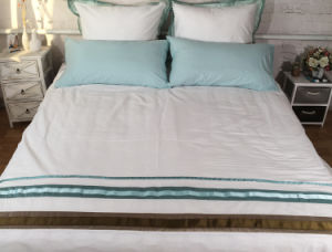 Beige Blue-Green Thread with Three-Dimensional Folding Sheets pictures & photos