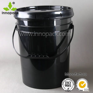 20 Liter Plastic Pail Black Paint Bucket with Lid pictures & photos