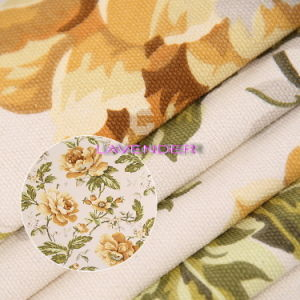 Blooming Flowers Pattern 250GSM Woven Canvas Fabric pictures & photos