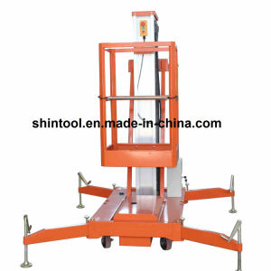 10m Mobile Hydraulic Lifting Platform with Single Mast (AWP10-1000) pictures & photos