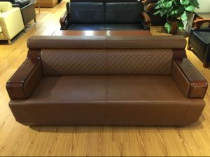 Genuine Leather High Quality Sofa Sets Commercial Sofas (FOH-8013) pictures & photos