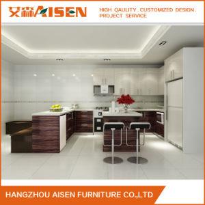 Customized Hangzhou Aisen Kitchen Cabinet Wood Kitchen Cabinet pictures & photos