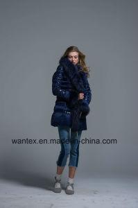 Ladies Loose Down Coat Fashion 80% Eiderdown Autumn Winter Navy Warm pictures & photos