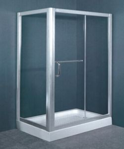 Premium Simple Australian Standard AS/NZS2208 Tempered Glass Aluminum Frame Walk in Enclosure Shower Tray (H005) pictures & photos