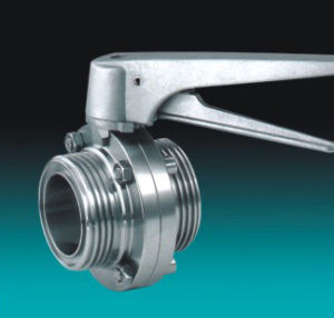 Sanitary Manual Butterfly Valve (ASTM A312 TP 304 EPDM Seal) pictures & photos