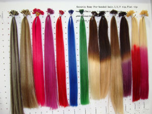 High Quality Double Drawn New Arrival Best Quality U or I or Flat Tip Pre-Bonded Hair Wholesale pictures & photos