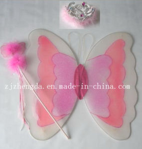 Fairy Princess Butterfly Party Costume Wings Wand Crown Set