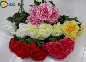New Design Popular Artificial Peony Bouquet for Decoration