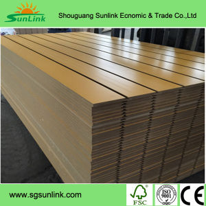Melamine Slot MDF Board for Decoration pictures & photos