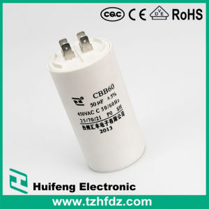 Cbb60 Motor Run Capacitor with Pins Series 2pins pictures & photos