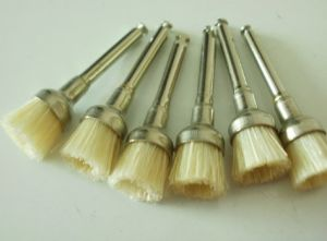 White Bristle Dental Prophy Brushes with FDA (PB-380) pictures & photos