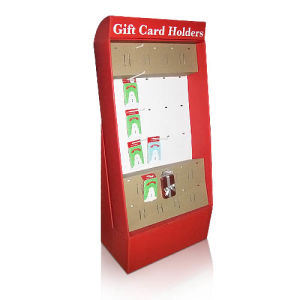 Cardboard Stand Display Rack with Hooks, Pop Retail Display Shelf pictures & photos
