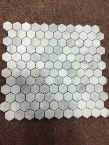 Carrera White Marble 1′′ Hexagon Mosaic Tile pictures & photos