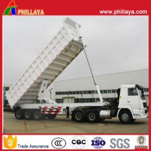 Rear Tipper Semi Trailer with Volume Opptional pictures & photos