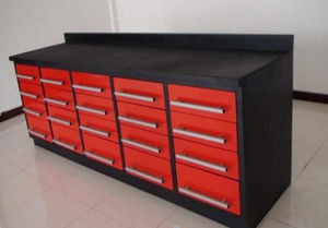 New Design Powder Coated Workbench with Drawers pictures & photos