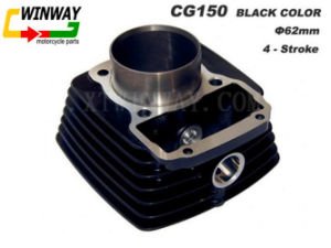 Ww-9107 Cg150 Black Color Motorcycle Cylinder pictures & photos