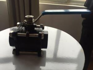 3 Way Threaded Brass Gas Ball Valve pictures & photos