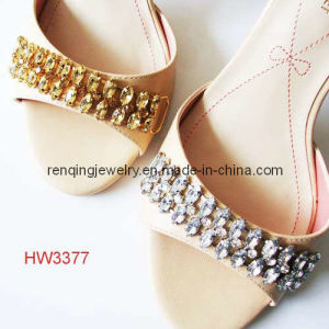 Rhinestone Favorite Lady High Heel and Sandal Chain (HW3377)