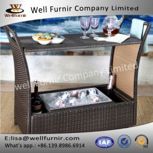 Well Furnnir Sophisticated Wicker Bar Cart pictures & photos