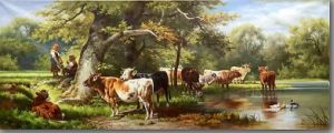 The Rest Cattle on Oil Painting pictures & photos