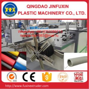 HDPE Single Wall Corrugated Pipe Machine pictures & photos