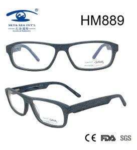 Latest Glasses Frames Full Rim Acetate Eyeglasses (HM889) pictures & photos