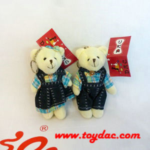 Plush Jointed Bear Key Ring pictures & photos