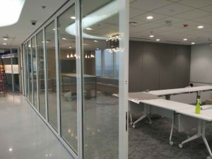 Movable Framed Glass Partition Wall for Office/Shopping Mall pictures & photos
