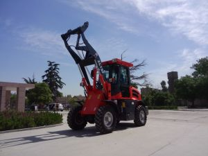 Wheel Loader Mini Loader with Snow Blade and Snow Blower Zl12f pictures & photos