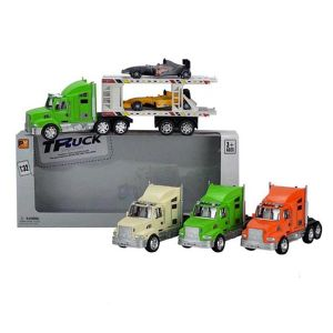 En71 Approval Plastic Car Toy Friction Truck with 2 Slider Car (10218897) pictures & photos