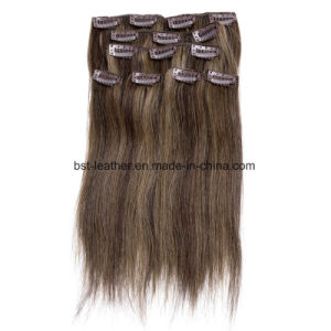 Wholesale Human Brazilian Straight Clip in Hair Extension pictures & photos