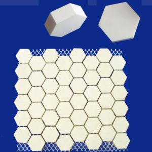 Mosaic Tile Alumina Ceramic Hexagonal Tile Mat for Abrasion Resistance pictures & photos