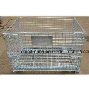 Stackable Folded Steel Wire Mesh Container pictures & photos