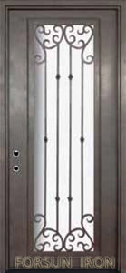 Single Wrought Iron Door Models for Appartments pictures & photos