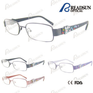Classic Child Optical Eyewear with Mouse Rubber Temple Optical Frames (OMK351052) pictures & photos
