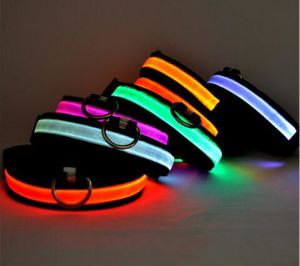 Eco-Friendly Reflective Adjustable Light up Dog LED Collars